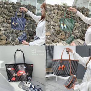 LZf Korea designer EMQ dog tooth o graffiti Goya 2020 new fashion Korean Handbag luxury handbagHandbag small CK net Graffiti red vegetable