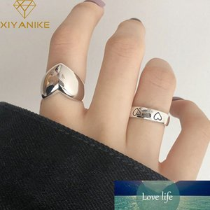 925 Sterling Silver LOVE Heart Width Rings for Women Couples Creative Trendy Birthday Jewelry Gifts Prevent Allergy