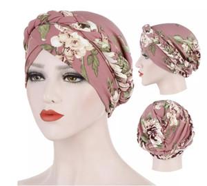 stampa di cotone Trendy muslim turban sciarpa per le donne islamiche del hijab tappi interni involucro arabo testa sciarpe femme musulman turbante Mujer