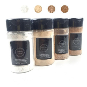 new makeup powder 1.5 oz. white and soft brown 2 colors beauty face setting powder