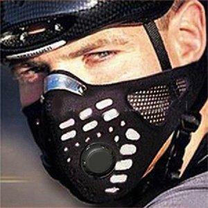 قبعات ركوب الدراجات أقنعة 4 قطع الأسود الصحة مكافحة الغبار الفم الوجه قناع التنفس للجنسين أزياء الشتاء الوجه 1