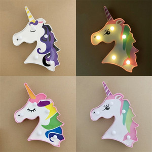 Unicorn Head Modeling Lamp Colorful Hair Stickers Room Decorate Sculpt Lamps Birthday Party Originality Motif Light Hot Sale 3 8xc F2