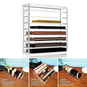 Removable Acrylic Eyeshadow Cushion Lipstick Storage Box Storage Rack Shelf Injection PS Air Cushion Holder Eco-friendly