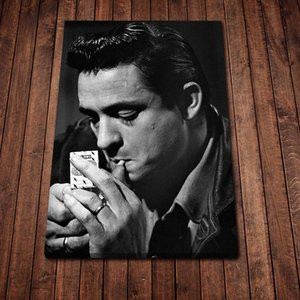 Johnny Cash Retro Poster Canvas Print Wall Art Fashion Home Decor Living Room Bedroom Oil Paintings