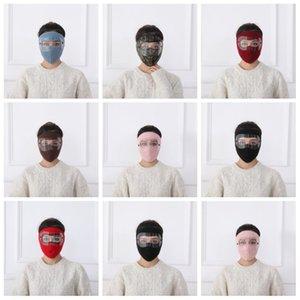 1pc nero rosso inverno nuovo occhiali maschera maschera viso maschera per esterni squittura a squilibrio calda polarizzatore a doppio strato