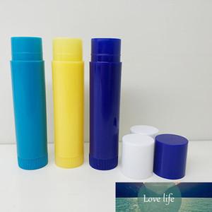 New Mini Sample 4ml Blue Yellow Lip Balm Container Eco Friendly Plastic Empty DIY Oval Face Lip Rouge Lipstick Tubes 1000pcs lot