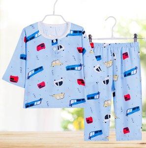 Kids Boys Girls Sleepwear baby girl spring cotton sets Children Homewear Pajamas for Boy Pyjamas Nightwear 1-12Y teenage clothes Q1203