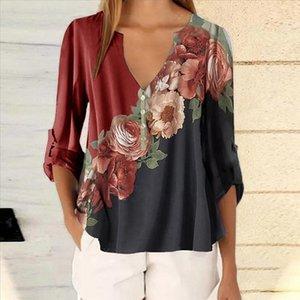 Adisputent Summer Floral Print Women Blouse 5XL Plus Size Blouses Half Sleeve Beach Shirt Office Work Shirts Blusas Feminina Top