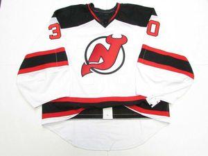 Ucuz Özel Brodeur New Jersey Devils Away Jersey Kaleci Kesim Dikiş Herhangi bir isim numarası ekle