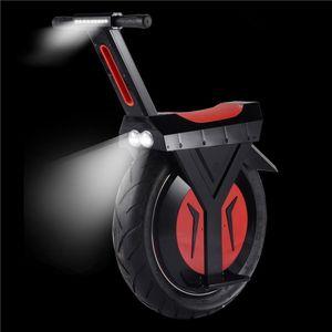 Leistungsstarker elektrischer Roller mit Sitz für Erwachsene 500W 60V ein Rad Selbstausgleichungsroller Zwei Batterie-großes Rad elektrische Unicycle
