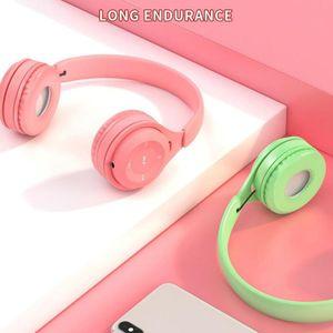 Wireless Bluetooth 5.0 Headset Head-mounted HiFi Stereo Sound Headphones Rechargeable Music Sport Running Earphones