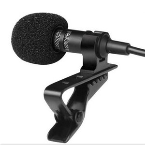 Portable Clip-on Lapel Lavalier Microphone 3.5mm Jack Hands-free Mini Wired Condenser Microphone for iphone Samsung Smartphone Feature: