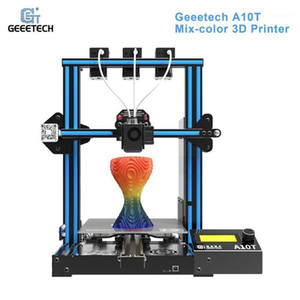 GEEETECH A10T 데스크탑 3D 프린터 혼합 컬러 인쇄 GT2560 제어 보드 재개 인쇄 필라멘트 탐지 220 * 220 * 250mm1