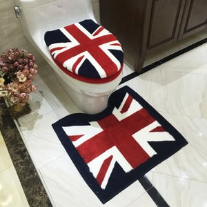 New British Style 3pcs set Toilet Seat Cover Thickened Bathroom Waterproof Washable Toilet Cushion Potty Mat Closetool Lid Cover Y1124
