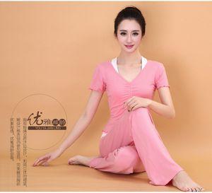 2015 spring summer new yoga short sleeve three piece set modal suit