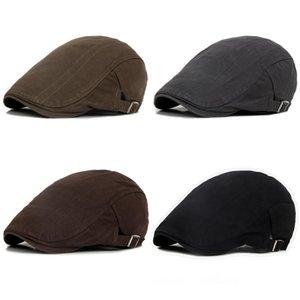 NewsBoy Hat Мужчины Platte Petten Voor Mannen Джентльменская шапка Мужская ретро повседневная короткая плющая NewsBoy вождение плоских шапок Caps Men
