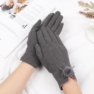 New Fashion Winter Fulcy Finge Mittens Driving Outdoor Sport Touch Screen Novità Donne Guanti in cashmere Nero / Grigio / Marrone / Rosa