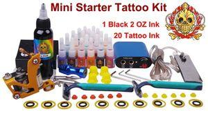 Mini Starter Tatouage Tatouage Toujours Tattoo Tool Equipment Art Body Quality Tatouage Encre 1 Machine 20Couleurs