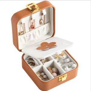 Jewelry Box Portable Travel Storage Boxes Necklace Earrings Ring Organizer Leather Display Storage Case Jewelry Holder Gift Boxes GWB3745