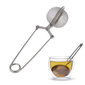 Té Infuser 304 acero inoxidable esfera de malla del tamiz del té de hierbas de la especia de café de filtro difusor manija té bola IIA888