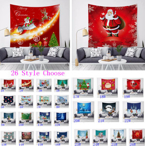 Christmas Tapestry Living room Tapestry Thanksgiving Day Happy Christmas Blanket For Adults And Children Wall Hanging Decor Mats HH9-3674