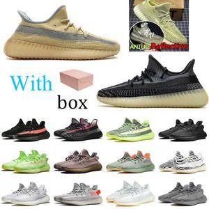 2020 Новое Высокое Качество Kanye West V2 Abez Cinder Хвостовой Света Бегущая Обувь Земля Пустыня Мудрец Зейон 3M Статический Светоотражающий Искафил Мужчины Спортивная обувь