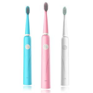 Cadeau portable brosse à dents électrique USB Chargement de batterie adulte brosse à dents adultes poils doux étanche Sonic Sonic Brosse à dents à ultrasons VTKY2043