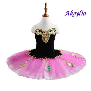 Girls Rose red pre-professional Tutu Adult Classical Ballet Tutu pancake Costume Women Ballet Stage dress Blue green