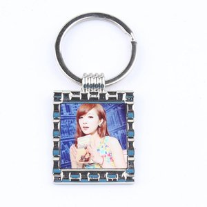 12 Styles Blank Keychains pour la sublimation Round Love Key Chain Iewelry Thermal Transfert Thermal Impression Matière vierge Consommables GWD4121