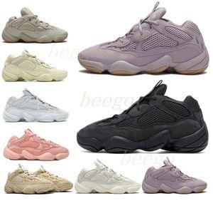 Kanye West 500 Desert Rat Rope Scarpe da corsa Bone Bianco Utility Black Stone Soft Vision Street Sneakers Blush Moon Giallo Sale Trainer Boots 333 #