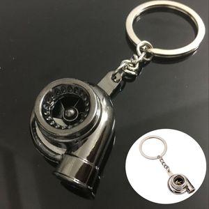 New Universal Car House Cool Gunmetal Spinning Turbo Keychain Turbocharger keyring Creative Design Auto Stylish Accessories