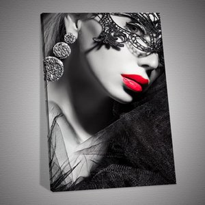 HD Print Sexy Lady Lipstick Art Poster Canvas Art Picture for Living Room Home Decor
