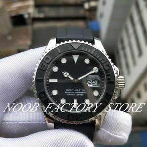 New YM 42mm Noir Cadran Nautique Style 2813 Mouvement automatique Strap caoutchouc Dive Basel 226659 Montres de montre pour hommes avec boîte d'origine