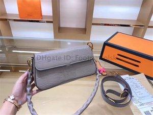 2021 Hot Luxury Designer H Note Mode Frauen Baguette Taschen Allligator Thread Haspe Innenraum Metallic Lady Mode Umhängetaschen