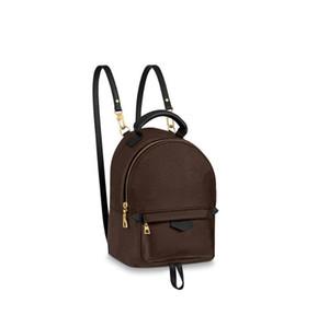 حقيبة الظهر الأزياء السلس سستة مصغرة ظهره جودة عالية بو الجلود الأطفال النساء البني الطباعة حقيبة الحرة الشحن