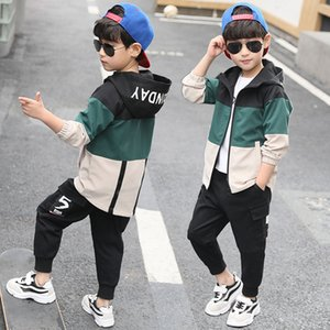 Spring Kids Boys Clothing Set Spring Autumn Kids Clothes Set 4 6 8 10 12 13 Years Boys Sports Suit Fashion Children Clothing 201201