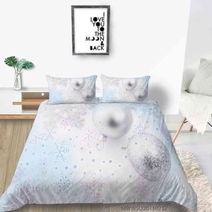 3D Christmas Print Bedding Set Duvet Cover Set Pillowcases Bedding Sets Home Textile Bedclothes Bed Linen