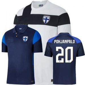 20 21 Team Nazionale Finlandia Soccer Jersey Jensen Soiri Pukki Casa Away 2020 2021 Camicia da calcio Camiseta de Futbol