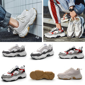High Quality For Women Men Fashion Old Dad Shoes Grey White Red Black Breathable Comfortable Sport Designer Sneakers 39 -44 2021