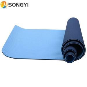 SONGYI Yeni TPE Yoga Paspaslar Kaymaz Battaniye TPE Jimnastik Spor Sağlık Kaybetmek Ağırlık Fitness Egzersiz Pad Kadın Spor Yoga Mat I119