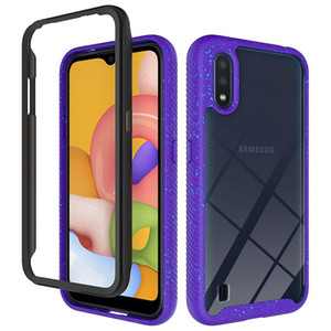 TPU+PC+Acrylic Frame Bumper Transparent Clear Case for Samsung Galaxy A01 A21 A71 A51 A40 A50 A30s A50s A20 A30 A20s A20e Shockproof Cover