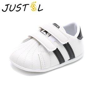 Justsl Baby Towdler Chaussures Nouveaux Garçons Filles Chaussures Sport Blanc Chaussures Soft Bas Soft Non-Slip Première marche Chaussures LJ201104