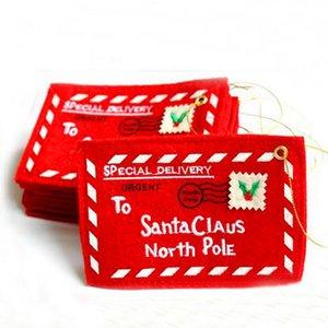 Christmas Rouge Santa Claus Envelope Noël Suspending Ornements Décorations de Noël pour la maison Nouvel Annon Noël Décoration d'arbre de Noël OWD3307