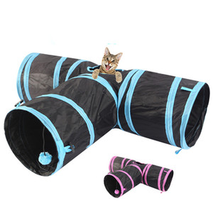 Tube de tunnel de chat collabiliau 3 voies Boule d'animaux de compagnie pour animaux de compagnie pour chiot de chat Kitty Kitten Kitten Rabbit JK2012XB