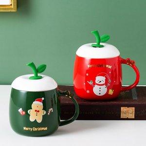 400 ml Tazas de cerámica de la Navidad Café Dibujos animados Leche Taza de Leche Santa Claus Holiday Amantes Decorativos Taza de Café Regalo Mar Mar EVER EWF3498