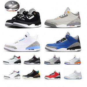 جودة عالية 2021 جديد 3 ثانية أحذية رجالي كرة السلة nakeskinالأردن 3 III UNC Denim Satin Retro Spromment Jumpman Womens Sneakers الرجال TR 56YC #
