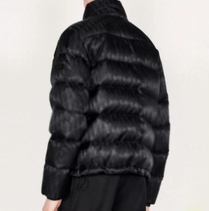 20 20FW Hommme Obliqueique Jacquard Nuptse Down Куртки зимние теплые напольные горные пальто на улице пуховики на улице HFLSYRF099