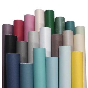 X45 College dormitory wallpaper bedroom living room office solid color non woven self-adhesive wallpaper Roll