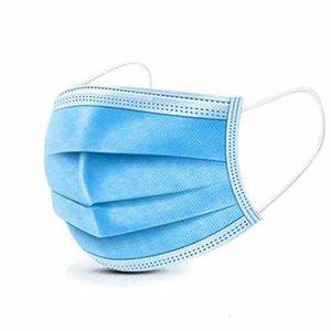 3-ply одноразовое лицо маска для лица против дымы для пылезащитного замыкания на русском языке Arrapep Mask Protective Products Anti-Fog Failing Masks ZZA1919