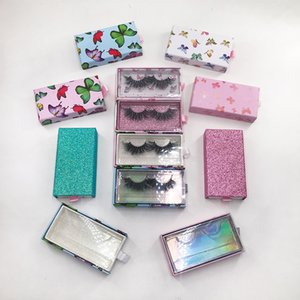 2021 New Arrivals Lash Boxes Packaging Butterfly Eyelash Case For 25mm 27mm 30mm and More Natural Mink Eyelashes